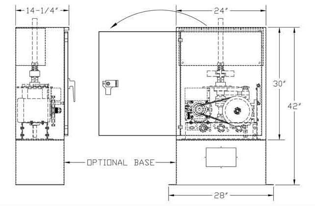 Gate Oper. 18 Pro MSW Dimensions Graph