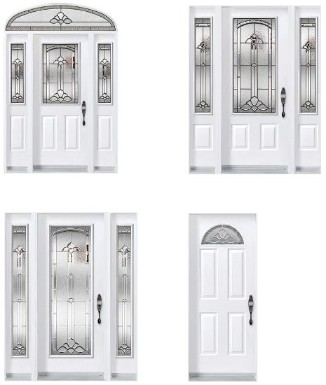 Cathedrale residential entry door door doctor for Glass entrance doors residential