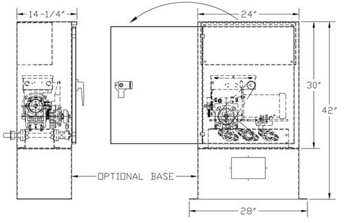 Pro GOHD Gate Operator Dimensions