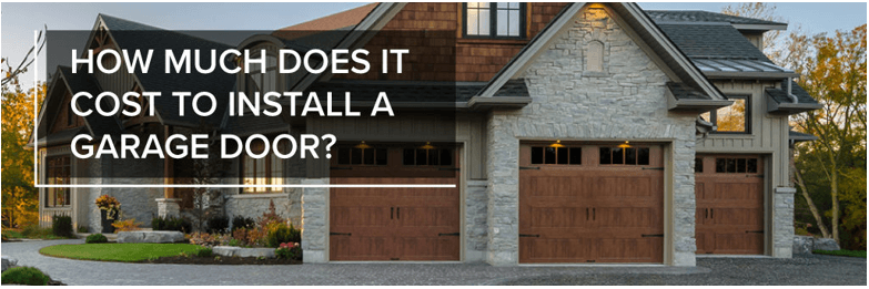 garage door cost for installation